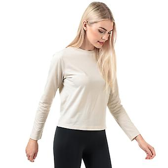 Women's Y-3 STKD Pitkähihainen T-paita kerma