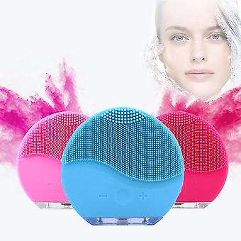 Face Cleansing Pad -mini Electric Brush Silicone Face Cleaner, Deep Pore