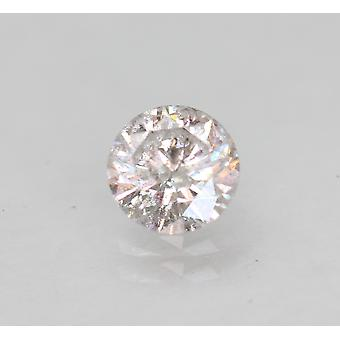 Certified 0.44 Carat H Color Round Brilliant Enhanced Natural Diamond 5.02mm 3VG