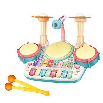 Strumenti musicali Children's, tamburi jazz, batteria, musica a otto toni, giocattoli educativi, insegnamento musicale