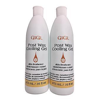GiGi Post Wax Cooling Gel Skin Refresher 16 OZ Pack of 2