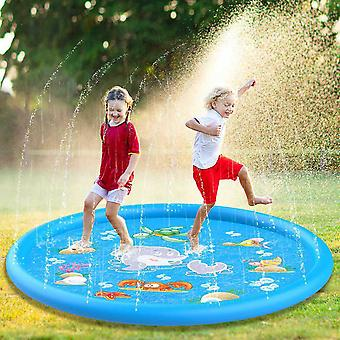 Kids Inflatable Round Water Splash Play Swimming Pools