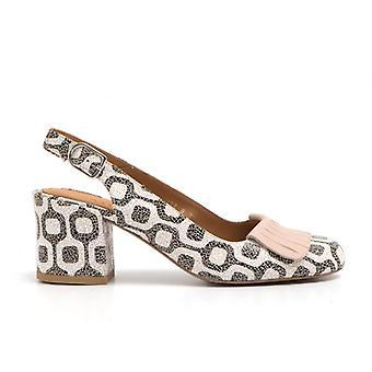 Sally keskikokoinen kantapään kengät craquelé-nahassa