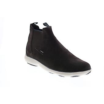 Geox U Nebula A  Mens Brown Suede Slip On Chelsea Boots
