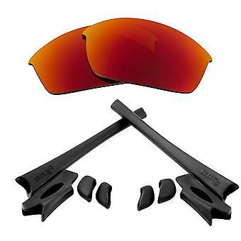 Polariserade ersättningslinser & Kit för Oakley Flak Jacket Red Mirror & Black Anti-Scratch Anti-Glare UV400 av SeekOptics