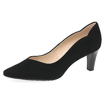 Peter Kaiser Malin-a Classic Court Shoes In Black Suede