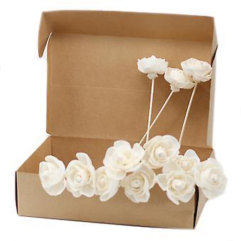 Fleurs de diffuseur naturels - Rose sur rose X 12