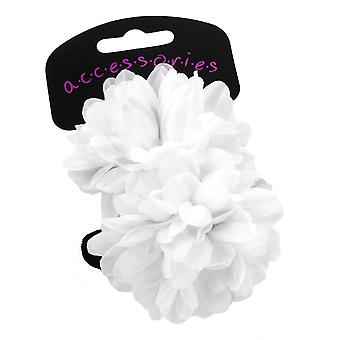 Girls pack of 2 white flower ponios