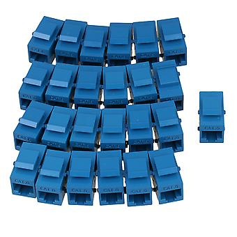 25Pieces Blue Female to Female RJ45 UTP Keystone Wall Coupler Cat6 Jack