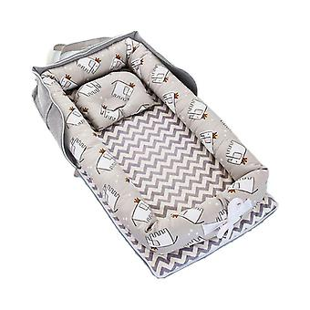 Portable Newborn Baby Sleep Nest, Infant Travel Bed Crib Soft Anti-collision