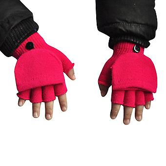 Winter Kid Casual Warmer Flip Cover, Fingerless Gloves, Outdoor Sports Warm