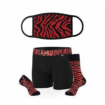 Zebra Mask & Underwear/sock Bundle
