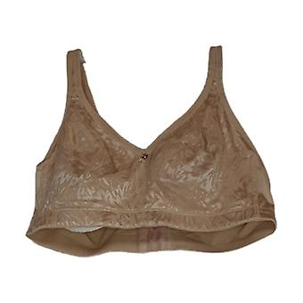 Breezies D Bra Jacquared Shine Unlined Wire Free Beige A371344