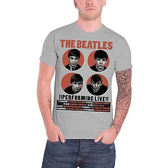 The Beatles 1962 Performing Live Official Mens New Grey T Shirt