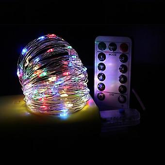 Led Copper String Lights For Decor, Christmas And Garlands With 8 Mode Remote
