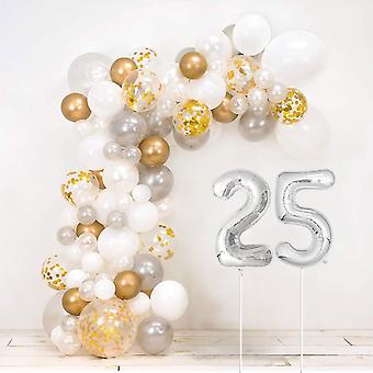 25Th silver wedding anniversary diy balloon arch kit - includes over 120 balloons