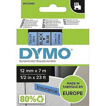 Merkintöjä nauha DYMO D1 45016 nauhan väri: vaaleansininen fontin väri: musta 12 mm 7 m