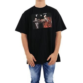 OFF WHITE Caravaggio S/S Over Tee Black Black OMAA038R21JER0031025 Top