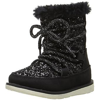 The Children's Place Girls Glitter Snow Ankle Zipper Snow Boots