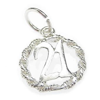 21e anniversaire Sterling Silver Charme .925 X 1 Charmes pour vingt et un - 4904