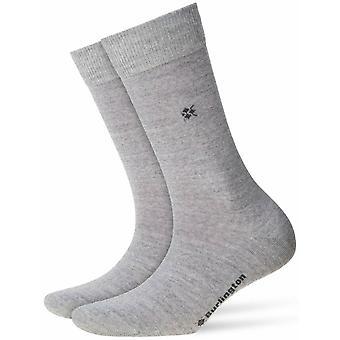 Burlington Bloomsbury Socks - Light Grey