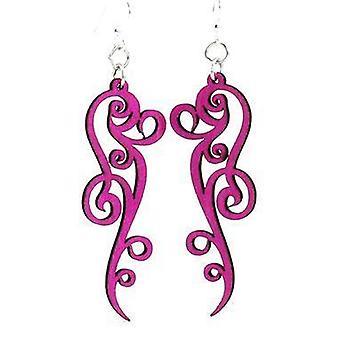 Ornate Scroll Design Earrings