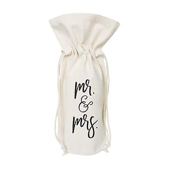 Mr. And Mrs.-canvas Wine Bag