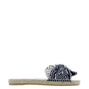 Manebí G86jk Women's Blue Cotton Sandals