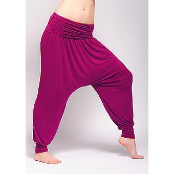 Comfort Flow Harem Yoga Pants - Majenta Pink