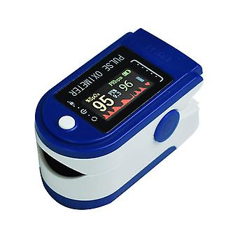 Portable Finger Pulse Oximeter Bloods Oxygen Heart Rate Monitor   (blue)