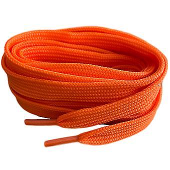 Orange Flat Trainer Lacets