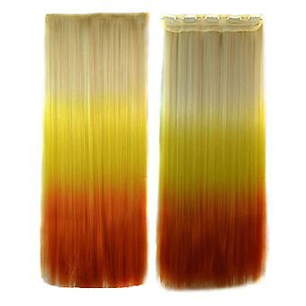 5 Cards Hair Extension 3 Colors Gradient Ramp Wig