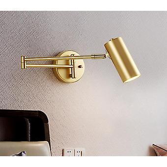 الحديثة القابلة للتعديل سوينغ طويلة الذراع أدى مصباح الجدار الحارة / الباردة الإضاءة جدار محمولة على السرير المنزلية الشمعدان جدار الإضاءة