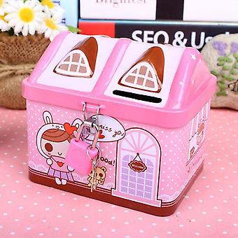 Saving Box Piggy Bank House