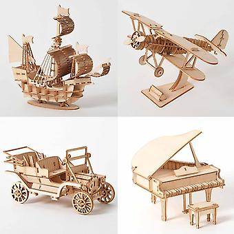 3d Wooden Puzzle Model Diy Handmade Mécanique