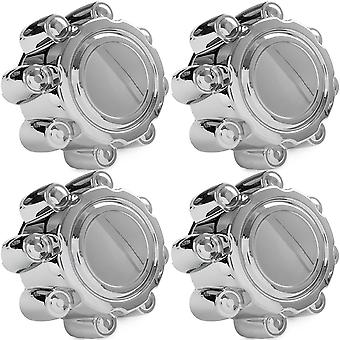 4x Chrome Center Caps Wheel Lug Nut Hub Cap Covers Compatible with 1999-2005 Ford F350 (SRW)