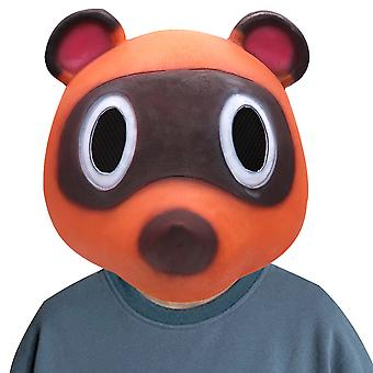 Animal Halloween Tom Nook Mask Latex Hoofddeksels Cosplay Ball Animal Props