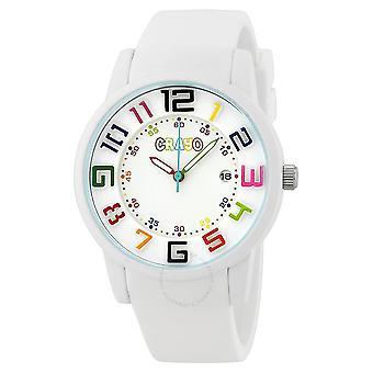 Crayo Festival White Dial White Silicone Unisex Watch CR2001