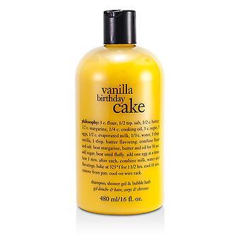 Champú pastel de cumpleaños vainilla, gel de ducha y baño de burbujas 52101 480ml / 16oz