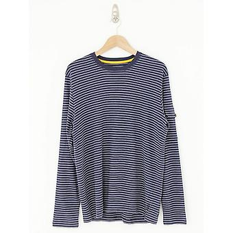 Ted Baker Melted Striped T.Shirt - Navy