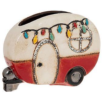 Village Pottery Festival Caravan Pot Red