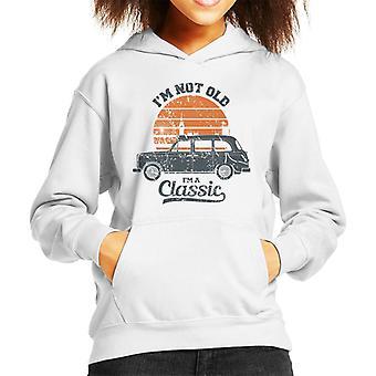 London Taxi Company TX4 Im Not Old Im A Classic Kid's Hooded Sweatshirt