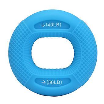 Verstelbare siliconen grip voor vinger spierversterkende training, blauw 40LB