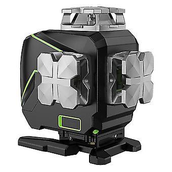 Huepar s04cg with hard carry case,bluetooth function&outdoor pulse mode 4d green beam line laser level,16 line laser level
