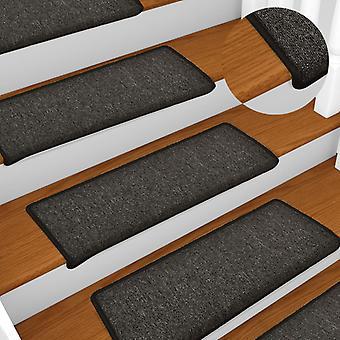 vidaXL Carpet stairs 15 pcs. 65 x 25 cm anthracite