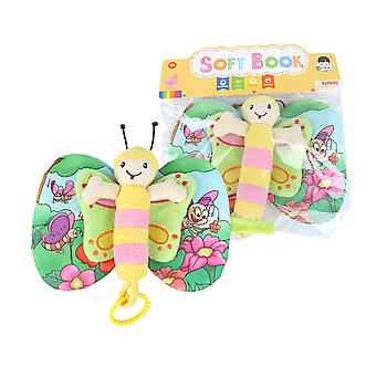 Butterfly Cartoon 3d Cloth Book With Sound Paper Bell Soft Infant Fabric Book