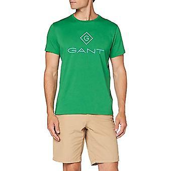 GANT D1. Color Lock Up SS T-Shirt, Amazon Green, S Men