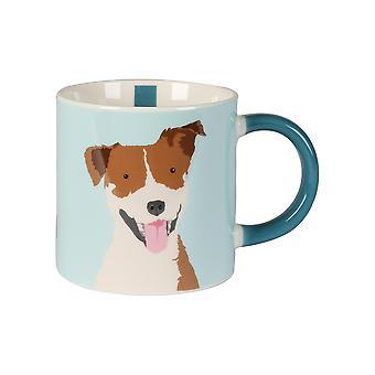 Terrieri koiran tee & kahvimuki posliini kuuma juoma kupit kahva 300ml sininen