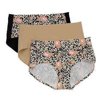Rhonda Shear Panties 3-Pack Invisible Body Brief Black 715480