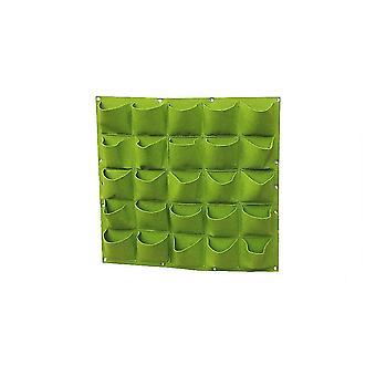25 רשתות תלויות תיק גידול בחוץ מקורה עבור פרח גן קיר - עיצוב כיסים קיר לגדל סירי ערכת צמח dt4993